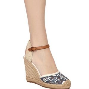 Tory Burch Lucia Lace Espadrille Wedge